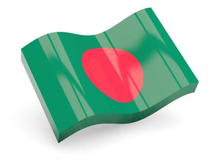 bangladesh 3d: 3d flag of Bangladesh isolated on white
