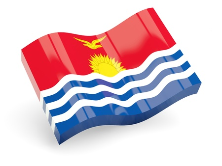 kiribati: 3d flag of kiribati isolated on white