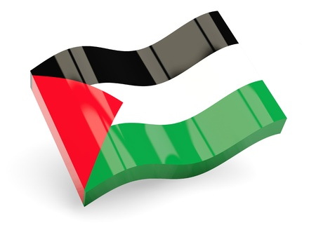 palestinian: 3d flag of palestinian territory isolated on white Stock Photo