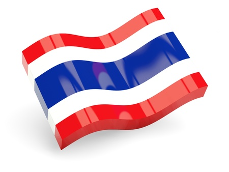 3d flag of thailand isolated on white Stock Photo - 18396800