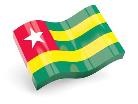togo: 3d flag of togo isolated on white Stock Photo