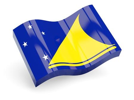 tokelau: 3d flag of tokelau isolated on white Stock Photo