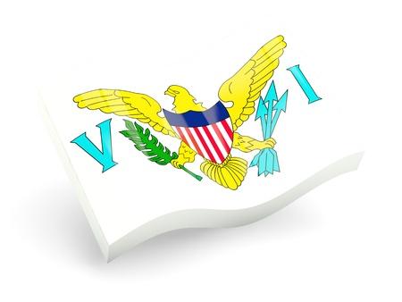 virgin islands: 3d flag of virgin islands us isolated on white