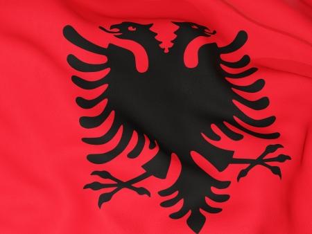 albania: Flag of albania Stock Photo