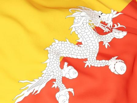 bhutan: Flag of bhutan Stock Photo