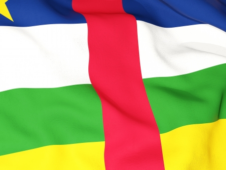 central african republic: Flag of central african republic Stock Photo