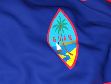 guam: Flag of guam Stock Photo
