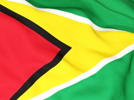 Guyana: Flag of guyana Stock Photo