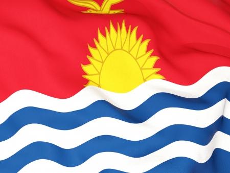 kiribati: Flag of kiribati Stock Photo