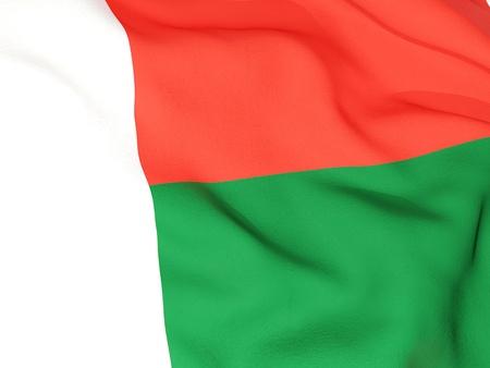 madagascar: Flag of madagascar Stock Photo
