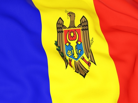 Flag of moldova photo