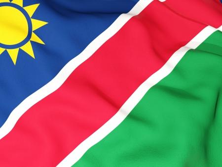 namibia: Flag of namibia Stock Photo