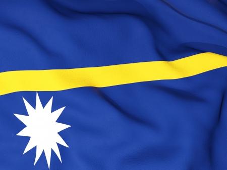 nauru: Flag of nauru Stock Photo