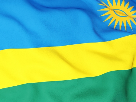 Flag of rwanda Stock Photo - 18618543