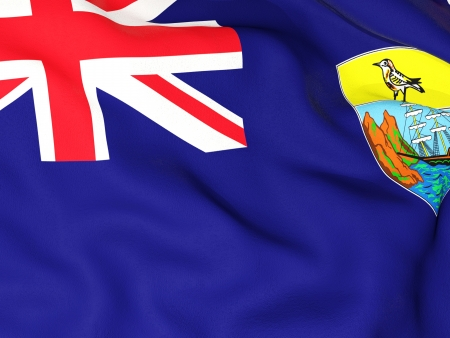 helena: Flag of saint helena Stock Photo
