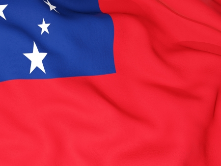 samoa: Flag of samoa