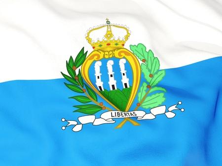 sammarinese: Bandiera di San Marino Archivio Fotografico
