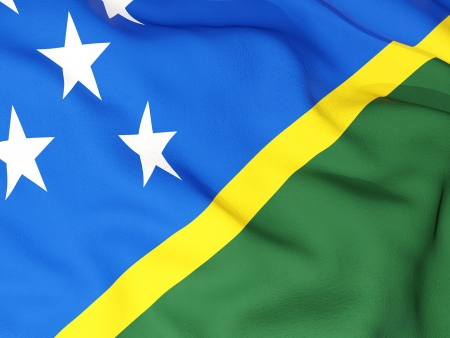 solomon: Flag of solomon islands Stock Photo