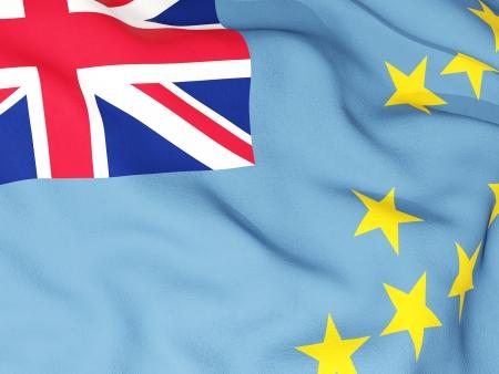 tuvalu: Flag of tuvalu Stock Photo