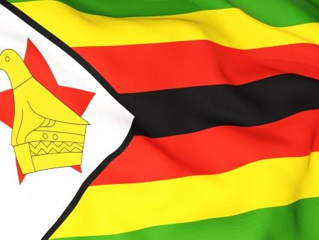 simbabwe: Flagge von Simbabwe Lizenzfreie Bilder