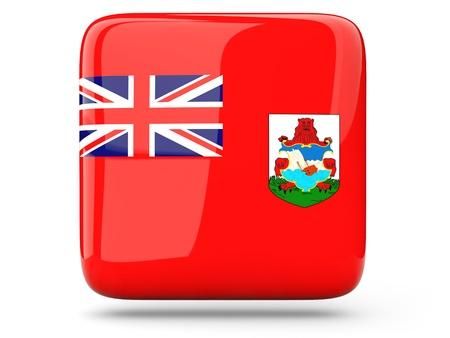 bermuda: Glossy square icon of flag of bermuda