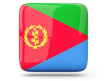 eritrea: Glossy square icon of flag of eritrea