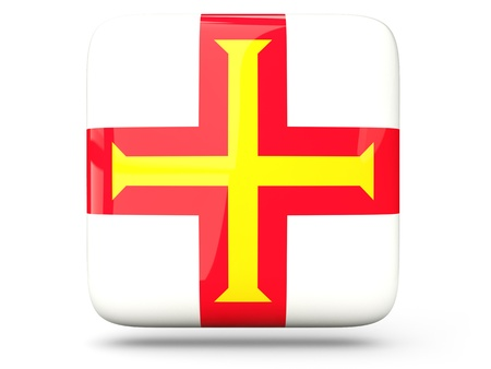 guernsey: Glossy square icon of flag of guernsey