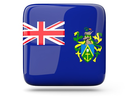 pitcairn: Glossy square icon of flag of pitcairn islands