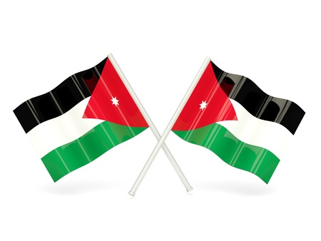 Flag of jordan photo