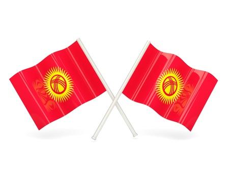 kyrgyzstan: Flag of kyrgyzstan Stock Photo