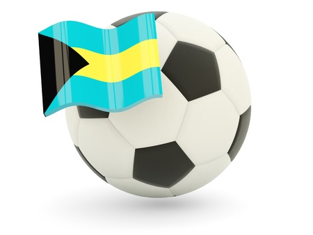 Football with flag of bahamas isolated on white Stock Photo - 18994057