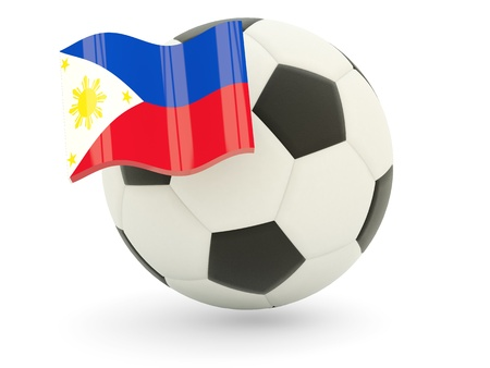 Football with flag of philippines isolated on white Stock Photo - 18994278