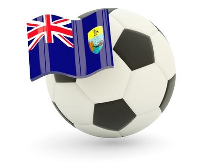 helena: Football with flag of saint helena isolated on white Stock Photo