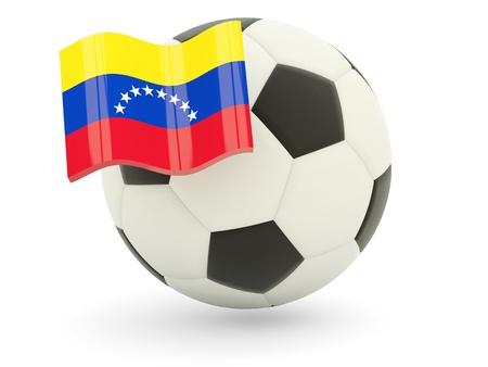 Fútbol de la bandera de Venezuela aislado en blanco Foto de archivo - 18994277