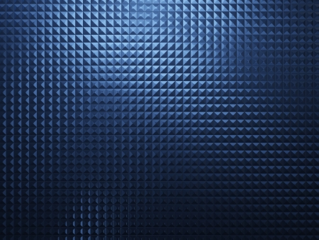 Blue abstract metal background with square texture photo