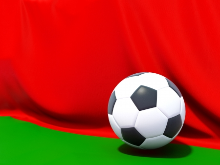 worldcup: Flag of belarus with football in front of it