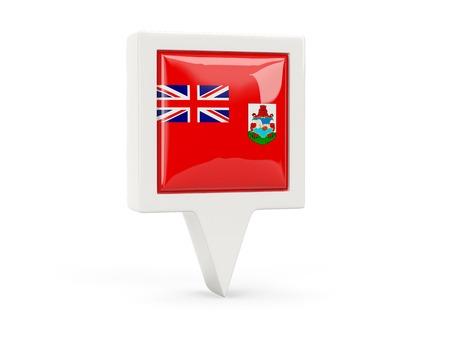 bermuda: Square flag icon of bermuda isolated on white
