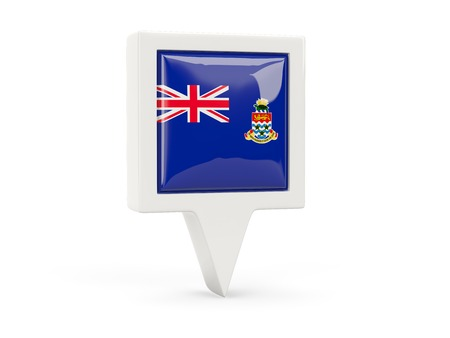 cayman islands: Square flag icon of cayman islands isolated on white