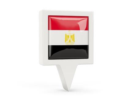 Square flag icon of egypt isolated on white photo