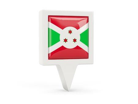 Square flag icon of burundi isolated on white photo