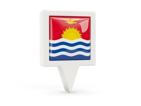 kiribati: Square flag icon of kiribati isolated on white