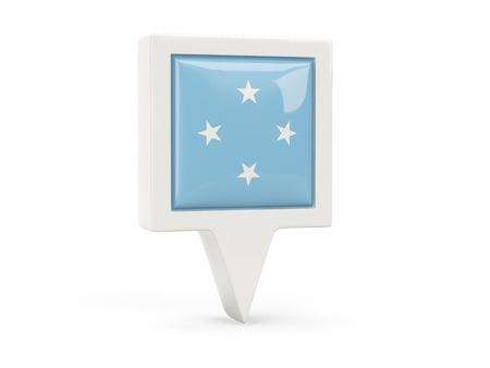 micronesia: Square flag icon of micronesia isolated on white