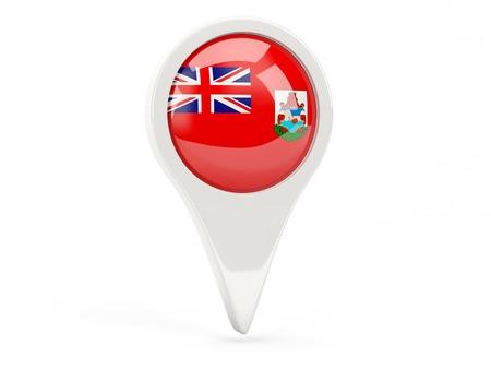 bermuda: Round flag icon of bermuda isolated on white