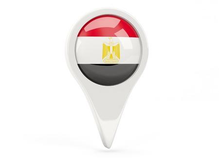 Round flag icon of egypt isolated on white photo