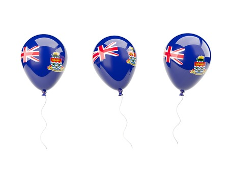 cayman islands: Air balloons with flag of cayman islands isolated on white
