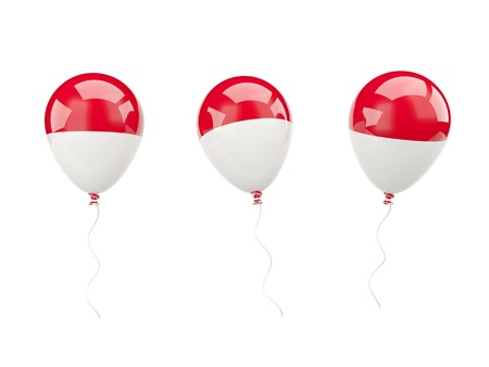 Air balloons with flag of monaco isolated on white photo