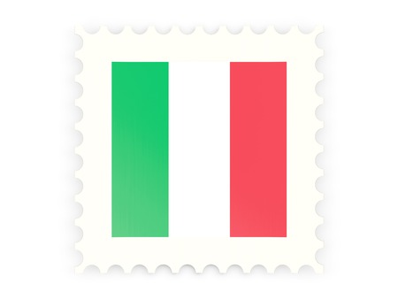 Postage stamp icon of italy isolated on white photo