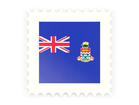 cayman islands: Postage stamp icon of cayman islands isolated on white