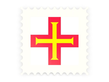 guernsey: Postage stamp icon of guernsey isolated on white