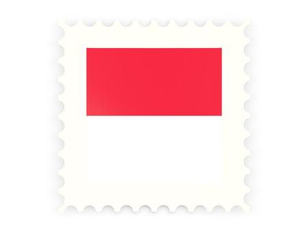 Postage stamp icon of monaco isolated on white photo